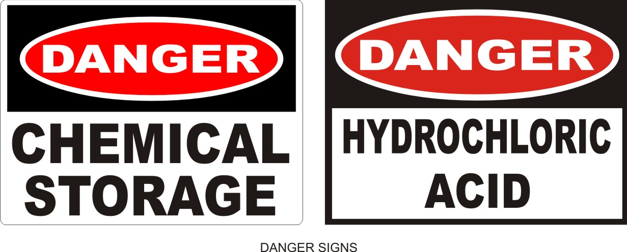 Dangerous Chemical Information Signs  Alpha Omega Engraving